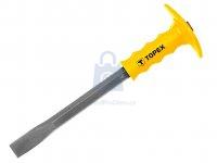 Sekáč plochý s plastovou ochranou ruky, Topex
