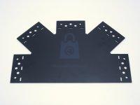 Spojka pětiramenná plochá štítová SDLPC, černá