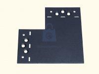 Spojka plochá tvar L, SDLPD, černá