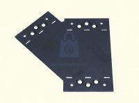 Spojka plochá trojramenná SDLPF, 45° LEVÁ, černá