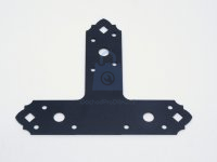 Spojka plochá ozdobný tvar T, SDSKT, černá