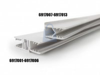 Profil samotěsnící z UV stabilizovaného plastu, DUROTOP