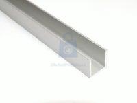 Profil U hliníkový, eloxovaný, EN AW 6060 (AlMgSi)