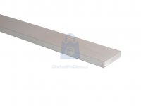Profil hliníkový plochý, eloxovaný, EN AW 6060 (AlMgSi)