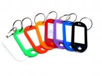 Štítek na klíče, plastový, různé barvy