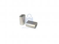 Objímka lisovací pro lano typ C, EN 13411-3, hliníková