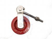 Kladka ocelová s hákem, červený lak