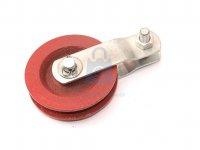 Kladka ocelová s čepem, červený lak
