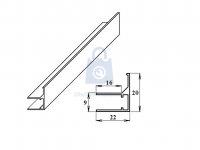 Profil U/F ukončovací/okrajový hliníkový
