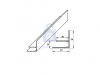 Profil F okrajový hliníkový, Lanit Plast
