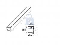 Profil-U ukončovací plastový, LanitPlast