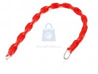 Řetěz zamykací DIN 5685A, obdélníkový profil, pozinkovaný v PVC