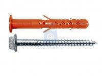 Hmoždinka nylonová konstrukční MBRK-STB do betonu se šestihranným vrutem a límcem, Mungo
