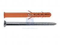 Hmoždinka nylonová konstrukční MBR-STr do betonu s nerezovým vrutem Torx, Mungo
