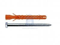 Hmoždinka nylonová konstrukční MB-SS do duté cihly se šestihranným vrutem, Mungo