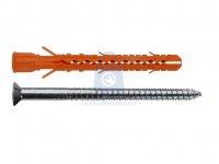 Hmoždinka nylonová konstrukční MB-STr do duté cihly s nerezovým vrutem Torx, Mungo