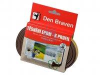 Profil těsnící z EPDM pryže K-profil, Den Braven