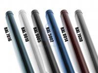Sloupek plotový kulatý, zinkovaný a komaxitovaný, různé barvy