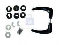 Klika plastová k brankám/bránám, Zelinger, vč, spojovacího materiálu a krytek