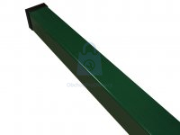 Sloupek plotový z jeklu, komaxitovaný RAL 6005