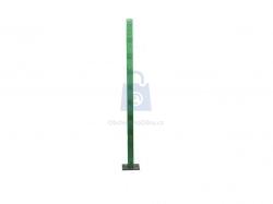 Sloupek plotový s kotevní deskou, z jacklu 60x40 mm, ZN + PVC