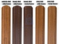 Plotovka plechová Guttafence, dřevěný dekor