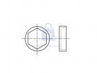 Krytka plastová na šestihranný šroub, rovná čirá