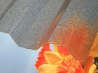 Zastřešení pergoly KARIBU ECO, trapézový polykarbonát