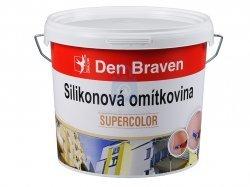 Omítkovina silikonová zatíratelná (hlazená), zrno 1,5 mm, Den Braven