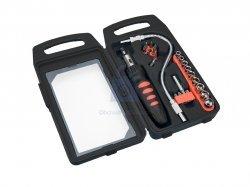 Šroubovák s ráčnou + bity a hlavice, Top Tools