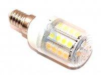 LED žárovka, barva světla teplá bílá, závit E14, svítivost 390 lumenů