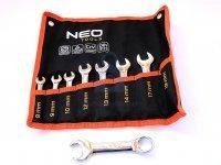 Sada krátkých očkoplochých klíčů 8-19, osmidílná, výrobce NEO tools