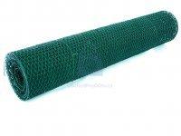 Pletivo plastifikované PVC, zelené, šestihranné, EN 10223-2 (kuřecí)