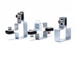 Příchytka plotových dílců ZN, pro sloupky průřez 60x40 mm