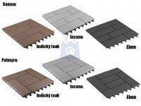 Dlaždice dřevoplastové (WPC) k terasovým podlahám