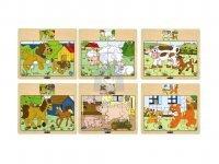 Puzzle dřevěné zámkové - 12 dílků