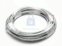 Lano ocelové šestipramenné 6x37dr+FC, zinkované DIN 3066