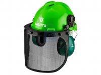 Helma pracovní s ochranou uší a štítem, 3v1 Verto