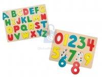 Vkládačka dřevěná písmena/číslice