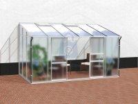 Skleník zahradní, sklo/polykarbonát, VITAVIA IDA