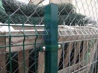 Sloupek plotový z jacklu 60x40, ZN+PVC, zelené